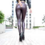 Ein sehr dynamischer Leggingswalk (Video)